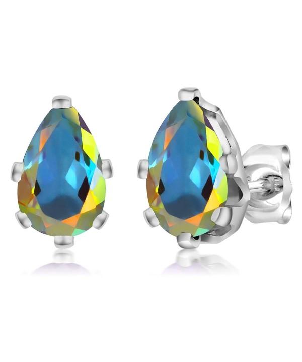 Mercury Mystic Sterling 6 Prong Earrings