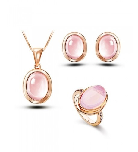 Crystal Jewelry Necklace Statement Earrings JGG029