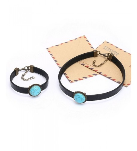 Yunhan Turquoise Necklace Bracelet Adjustable