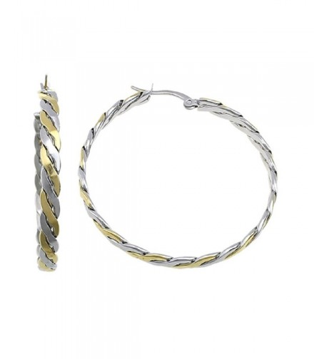 Stainless Earrings Twisted Silver 160227102700