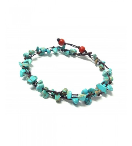 Blue Turquoise Color Bead Anklet