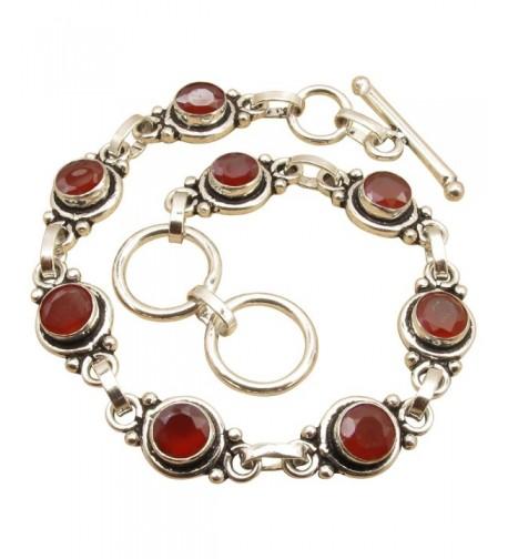 Bracelet CARNELIAN Sterling Jewelry Birthday