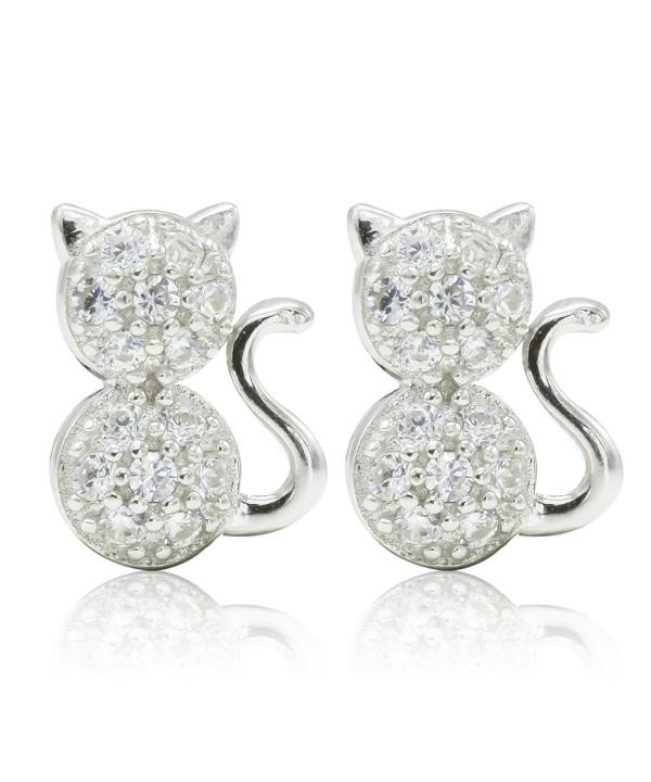 SilverLuxe Womens Sterling Zirconia Earrings