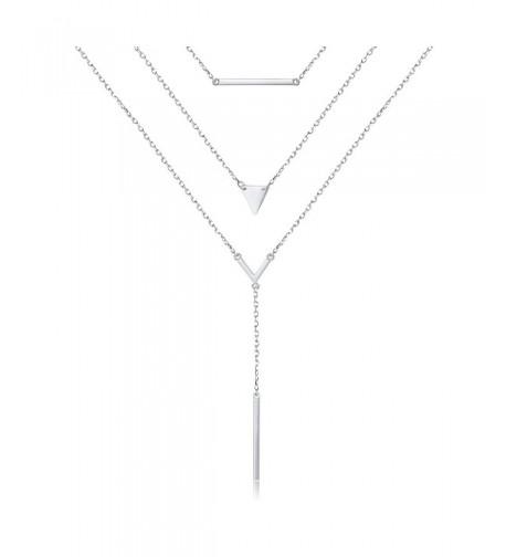 Sterling Silver Multilayer Pendant Necklace