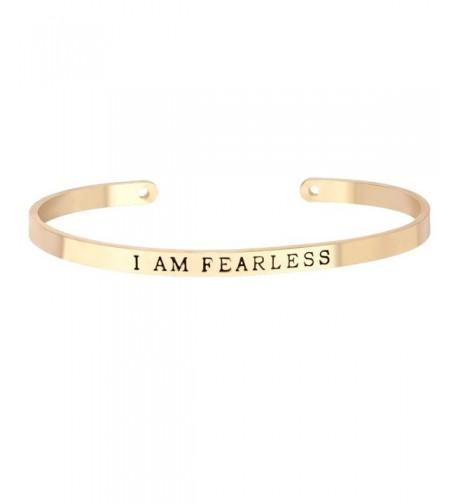 MANZHEN Plating Opened Bracelets FEARLESS