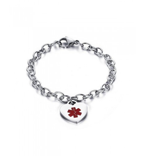 Stianless Medical Bracelets Bracelets Free Engraving