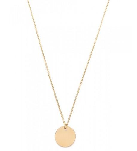 Circle Necklace Minimalist Pendant Geometric
