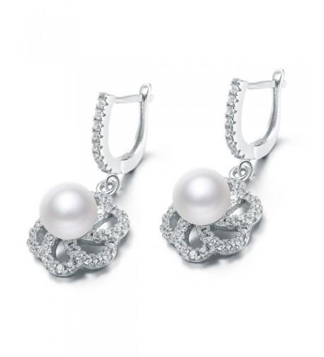 Sterling Silver Earring Cultured Earrings