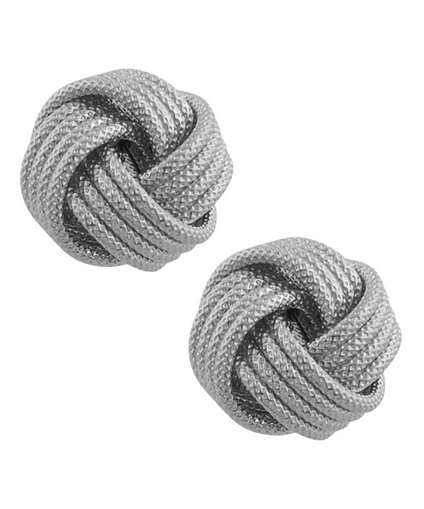 Rhodium plated Sterling Silver Textured Earrings