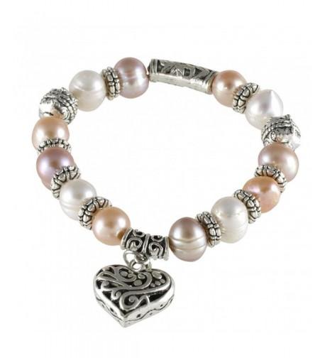 Multi Color Cultured Pearl Stretch Bracelet