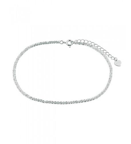 LuckyJewelry Sterling Silver Barefoot Bracelet