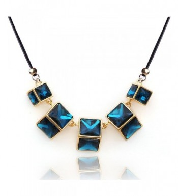 YAZILIND Dark Square Temperament Necklace