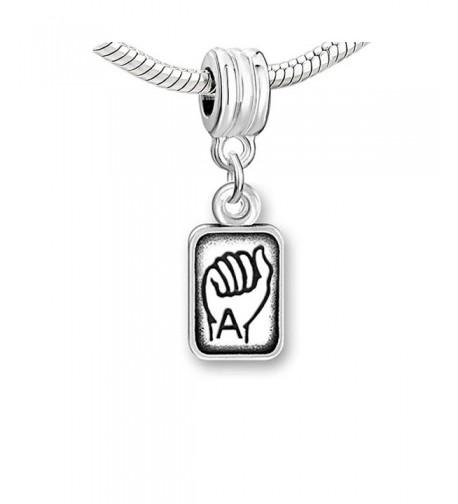 Lauguage Charms Alphabet Letters Bracelets