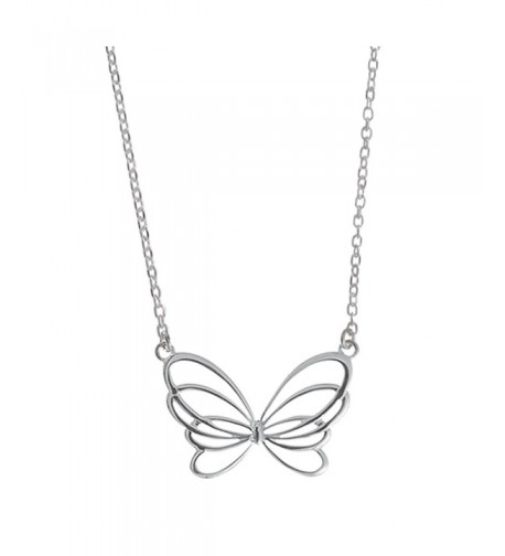 Boma Sterling Silver Butterfly Necklace