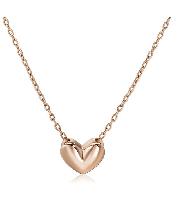 S Leaf Minimal Necklace Sterling Pendant