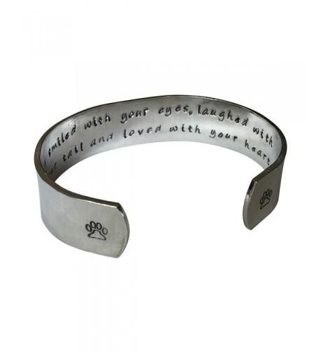 Laughed Hand Stamped Aluminum Bracelet