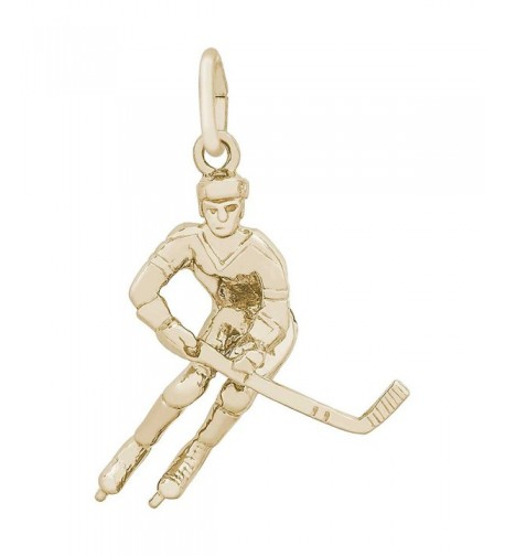Rembrandt Charms Hockey Player Plated