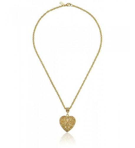 1928 Jewelry Gold Dipped Filigree Swarovski