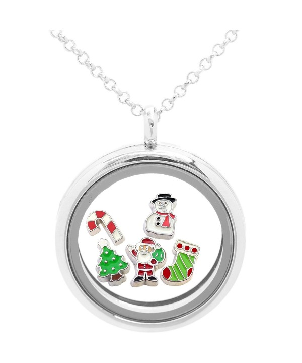 Locket Necklace Holiday Christmas Charms