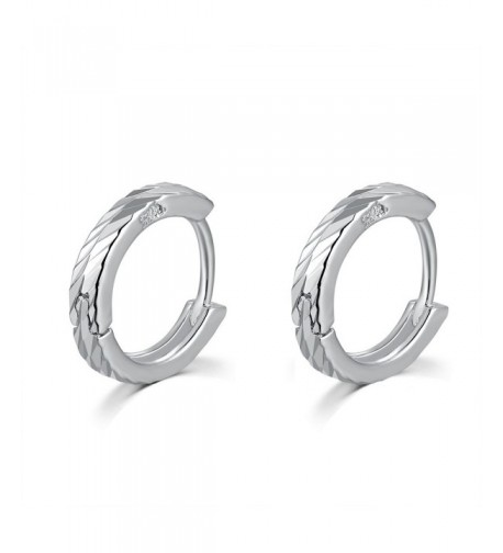 MBLife Sterling Finishing Diamond Cut Earrings
