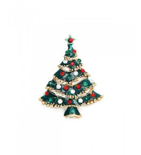 Christmas Brooch Vintage Tree Holiday
