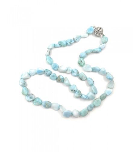 Natural Larimar Crystal Magnet Necklace