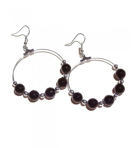 Faceted Black Onyx Gemstone Earrings