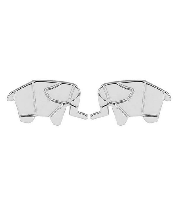 Elephant Stud Earrings Jewelry Silver