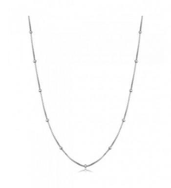 Kooljewelry Sterling Silver Station Necklace