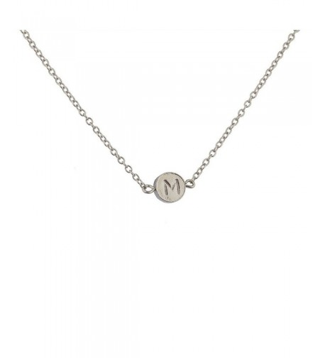 Lux Accessories Delicate Initial Necklace