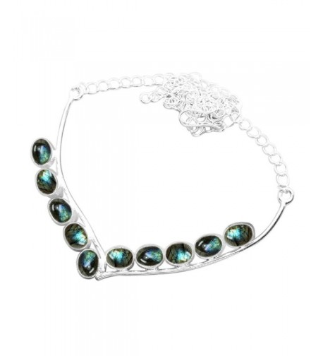 Labradorite 925 Silver Plated Necklace