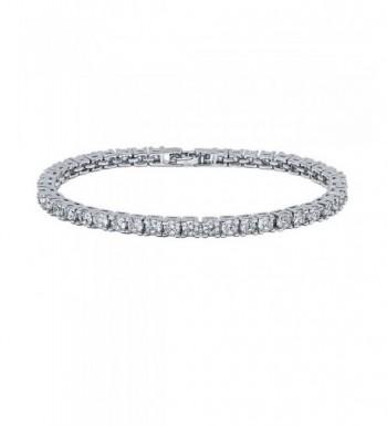 VPKJewelry Diamonique Rhodium Plated Bracelet