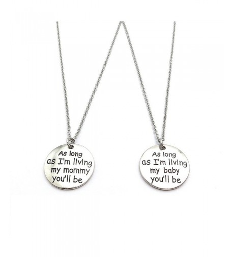 Mother Daughter Necklace Quote Stainless
