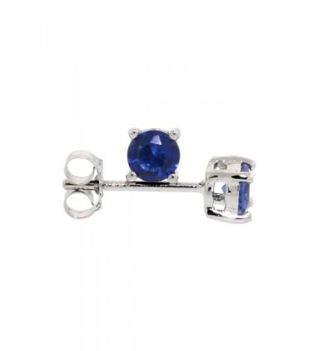 Sterling Silver Zirconia Sapphire Earrings