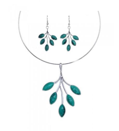YAZILIND Vintage Statement Necklace Earrings