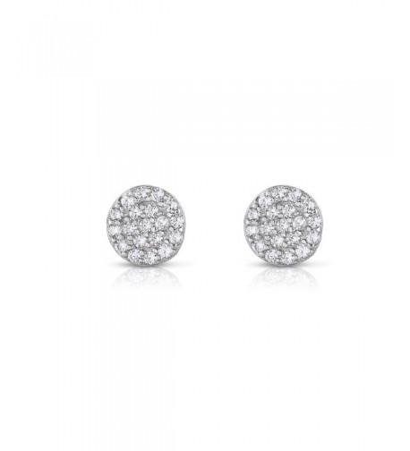 Sterling Clustered Zirconia Earrings Natural
