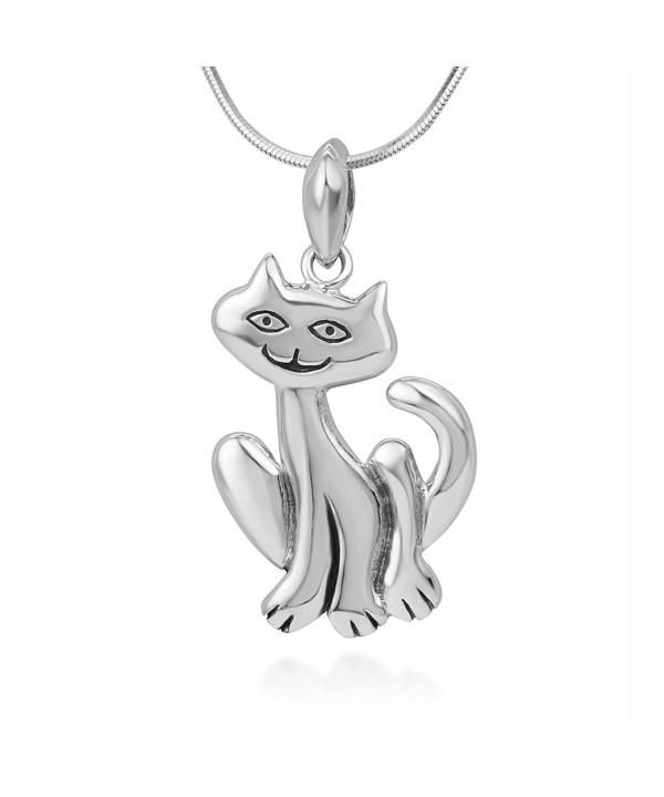 Sterling Silver Smiling Pendant Necklace