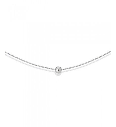 S Leaf Polished Necklace Sterling Pendant