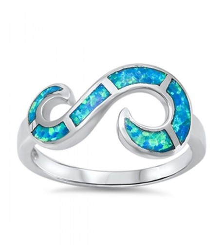 Infinity Swirl Simulated Sterling Silver