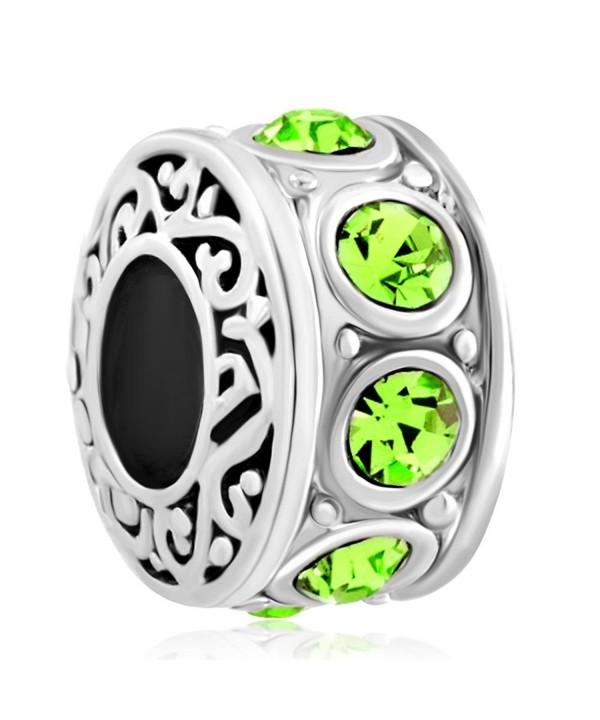 LuckyJewelry Filigree Crystal Birthstone Bracelet