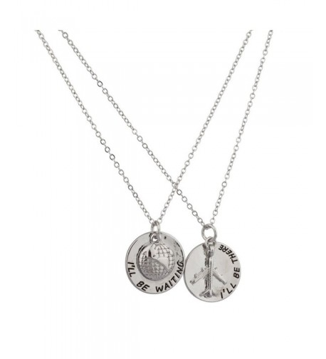 Lux Accessories Traveler Airplace Necklace