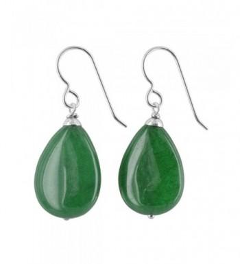 Emerald Gemstone Sterling Handmade Earrings