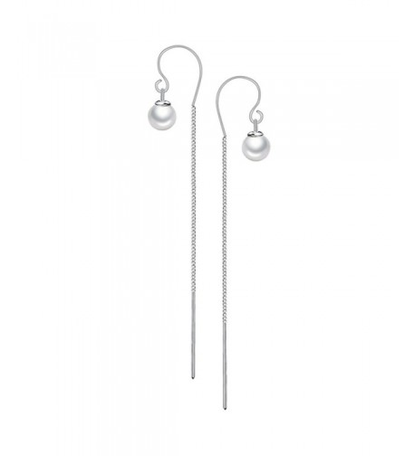 Merdia Sterling Silver Earrings Simulated