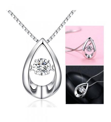 Teardrop Necklace Sterling Zirconia Infinity