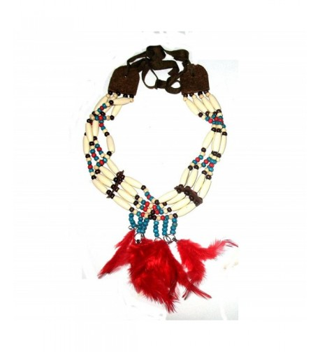 Choker Collar Necklace American Feathers