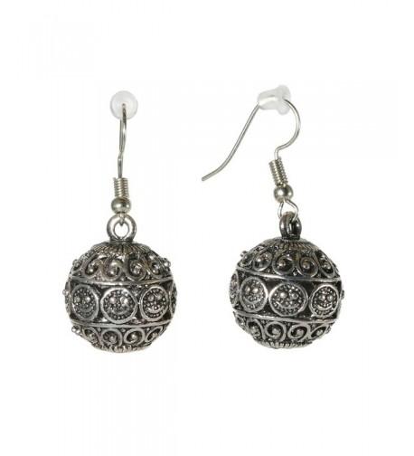 Fashion Silvertone Earrings Oriental Jewelry