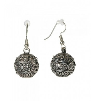 Fashion Silvertone Earrings Oriental Jewelry