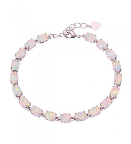 CiNily Rhodium Jewelry Gemstone Bracelet