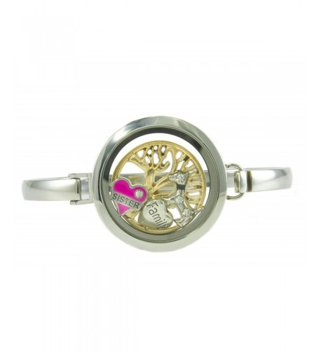Stainless Steel Floating Locket Bracelet BG247