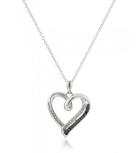 Sterling Silver Black Diamond Pendant